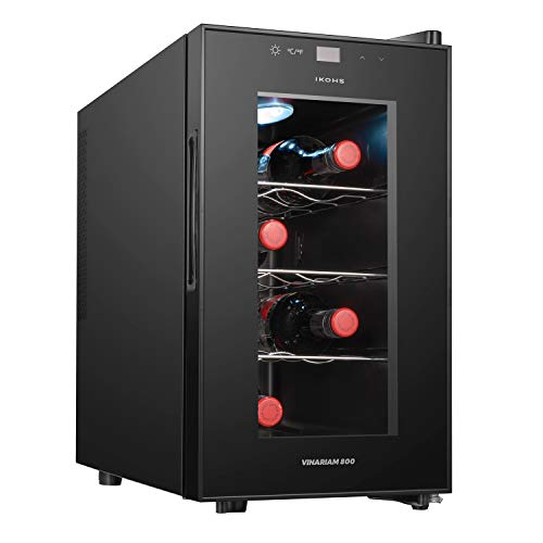 IKOHS VINARIAM 800 - Vinoteca de 8 botellas, 23 l, 60 W Luz