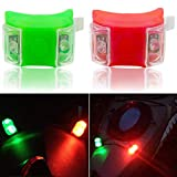 Botepon Marine Boat Bow Lights, Red and Green Led Navigation Lights, Kayak Accessories, Marine Safety Lights Battery Operated for Boat Pontoon Kayak Yacht Motorboat Vessel Dinghy Catamaran