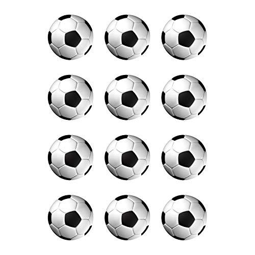 Muffinaufleger Cupcakes Muffins Kindergeburtstag Fussballparty FußballpartyFussbal Fußball FB01 Schwarz
