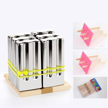 EgBert Kc-Ice18 6 Pieces Set Stainless Steel Popsicle Mold Food Grade Ice Lolly Maker Summer Gifts- #2