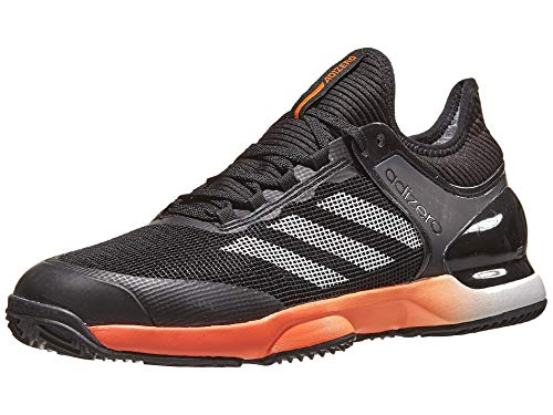 adidas mens Ubersonic 2 Clay Court Tennis Shoe, Black/True Orange/White, 9 US