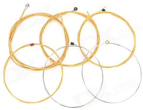 Mustang Multi Color Acoustic Guitar String (6 Strings)