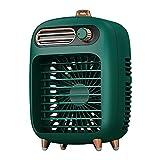 Mini aire acondicionado portátil de Hansensi, enfriador evaporador, portátil, ventilador de niebla, pequeño refrigerador de aire, humidificador, ventilador USB para habitaciones, oficina (verde)