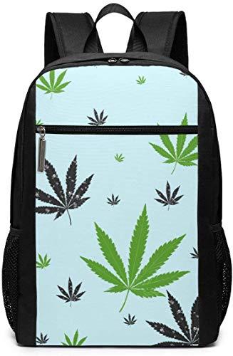 Teschio Weed Unisex Multiuso Borsa a Tracolla Zaini Scuola Libreria Casual Daypack Laptop Bag 17in...
