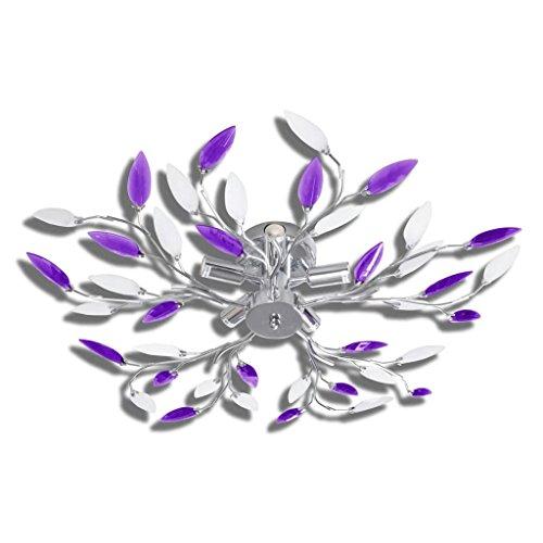 vidaXL Deckenlampe Kristall Blätter Deckenleuchte Deckenstrahler Lampe Leuchte