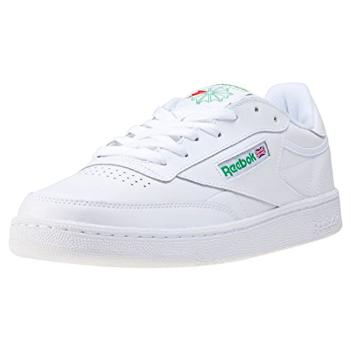 Reebok Club C 85, Sneaker Uomo, Bianco (Int/White/Green), 37.5 EU