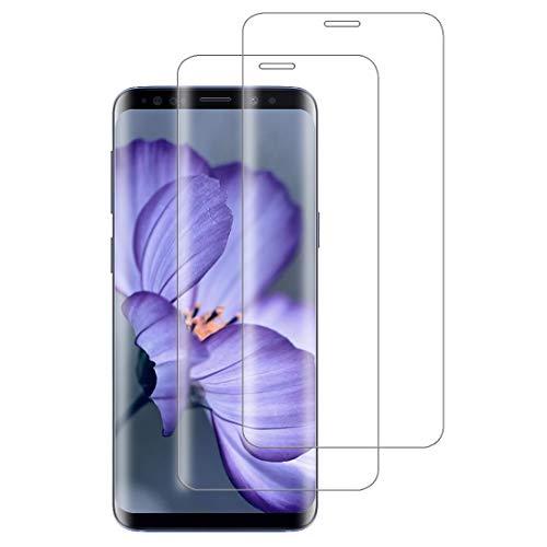 XSWO 2 Pezzi Vetro Temperato per Galaxy S9, Pellicola Protettiva Vetro Samsung Galaxy S9 [3D Copertura Completa] [Durezza 9H] [Senza Bolle] [Facile Installazione] [Anti-Graffi] Protezione Schermo S9