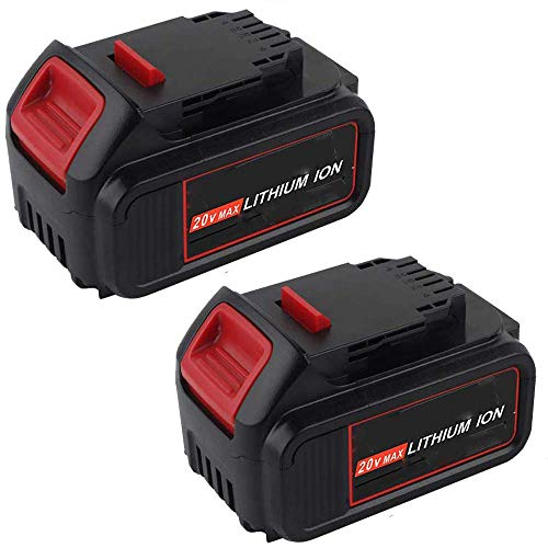2 Pack 4.0Ah 20V Li- ion DCB205 Replacement Battery for Dewalt Battery DCB204 DCB200 DCB206 DCB205-2 DCB201 DCB203 DCB181 DCB180 20V DCD/DCF/DCG/DCS Cordless Power Tools