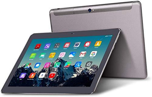 TOSCIDO Tablet 10 Zoll Android 10.0,Quad Core,64GM eMMC,4GB RAM,Doppelt Lautsprecher Stereo,WiFi/Bluetooth/GPS,Inklusive Deutscher Anweisungen - Grau