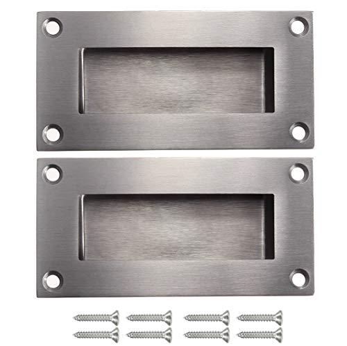 NewZC 2 pièces poignées de porte poignée cachée poignée remplaçable pour porte coulissantes sans manche, Anticollision rectangulaires simple mais à la