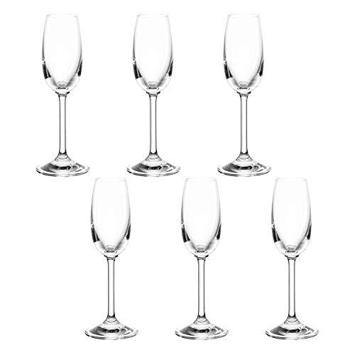 montana pure Grappa-Gläser, 6er Set, spülmaschinenfestes Digestif-Glas, Spirituosen-Gläser im klassischen Stil, Bar-Glas, Likör-Glas, 80 ml, 042387