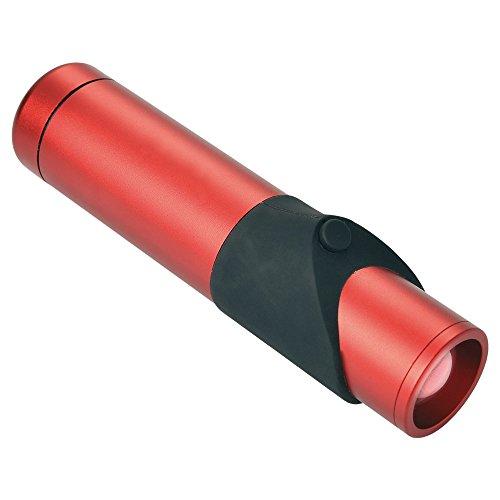 Negro Wolf Kapila pequeñas de aluminio linterna Rojo rojo