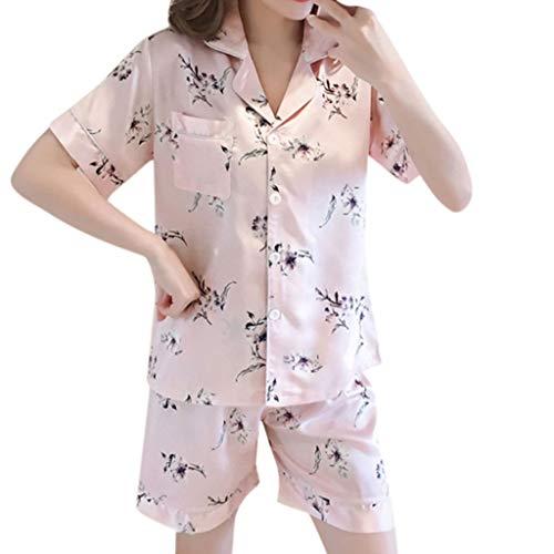 OPAKY Mujer Conjunto de Pijamas para Mujer Ropa Pijama Pantalones Cortos para Mujer Ropa de Dormir Ropa de Dormir Corta Conjuntos de Pantalón de Dormir