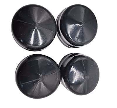 shiosheng 4pcs 532104757 Rubber Wheel Axle Hub Caps for Husqvarna, Weed Eater, Poulan, Sears, Crafstman, Ryobi and Roper Lawn Mower, Lawn Tractor and Snow Blower 532175039, 104757X, 104757X428