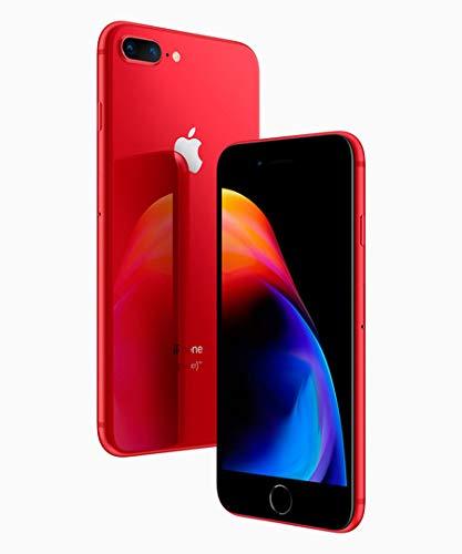Apple iPhone 8 Plus Rojo 64 GB (Renewed)
