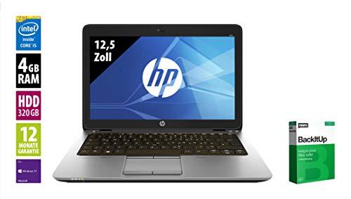HP EliteBook 820 G2-12,5 Zoll - Core i5-5300U @ 2,3 GHz - 4GB RAM - 320GB HDD - WXGA (1366x768) - Webcam - Win10Pro (Zertifiziert und Generalüberholt)
