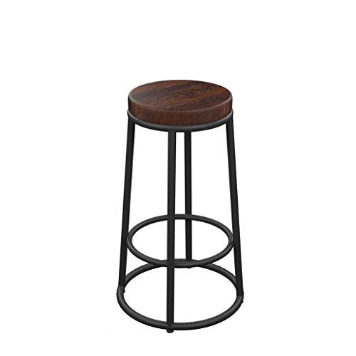 Lounge- & Cocktailsessel Kreativer Eisen-Barhocker Retro Alter Barhocker Barhocker-Lounge-Stuhl-weicher gepolsterter hoher Schemel (Farbe : Board, größe : 75cm)