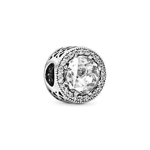 Pandora Damen Charm Strahlkranz der Herzen Silber/Rosa