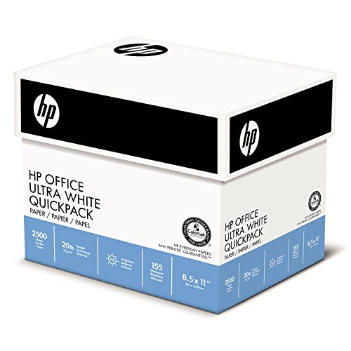 Office Ultra-White Paper, 92 Bright, 20lb, 8-1/2 x 11, 500/Ream, 5/Carton