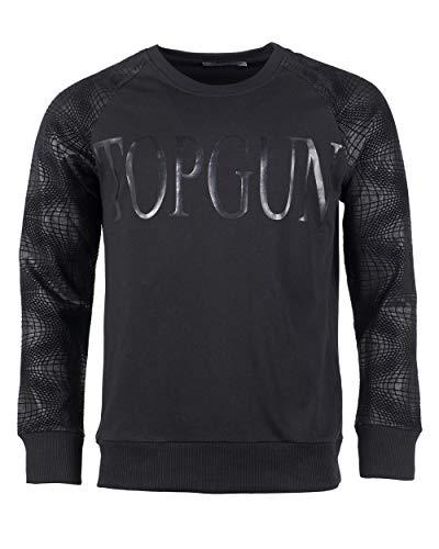 Top Gun Herren Modisches Sweatshirt Black Swarn Black,l