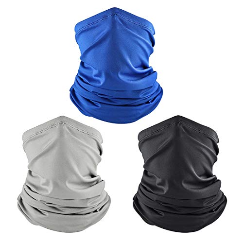 Men Neck Gaiter, Summer Cooling Face Cover Scarf, Sports Mask Bandana Balaclava