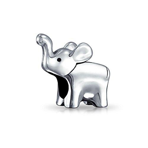 Buena Suerte Hasta La Trompa De Elefante Abalorio Encanto Mujer Adolescente Pulido Plata Esterlina 925 Pulsera Europea