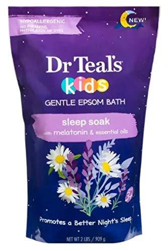 Dr Teal's Kids Gentle Epsom Bath Sleep Soak with Melatonin & Essential Oils