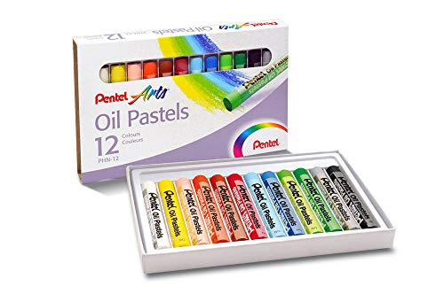 Giz Pastel Oleoso, Pentel, Arts, Phn-12, 12 Cores