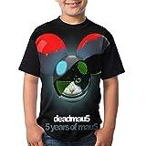 Deadmau5 5 Years of Mau5 Youth Short Sleeve T Shirt Round Neck Teenage Boys Girls Tee Shirt Black