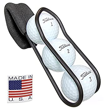 Golf Ball Holder - Pro with Quick-Draw Release  Black