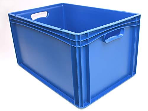 600 x 400 x 320 Kunststoffkiste Industriebox Lagerkasten blau Stapelbehälter Kiste Stapelbox