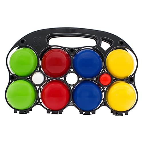 GICO Boccia Spiel aus Holz, vollfarben lackiert mit 8 Kugeln, Durchmesser 7 cm - 3013