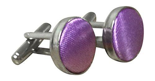 Sock Snob - Homme et Femme boutons de manchette plaqué argent dans de nombreuses couleurs (Violet)