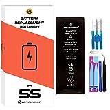 ultrapower100® batería Compatible con iPhone 5S | Alta Capacidad 1800 mAh| producción 2020 0 ciclos de Recarga | Incluye Manual y Kit de Juego de Herramientas | Todos APN | Garantía de por Vida