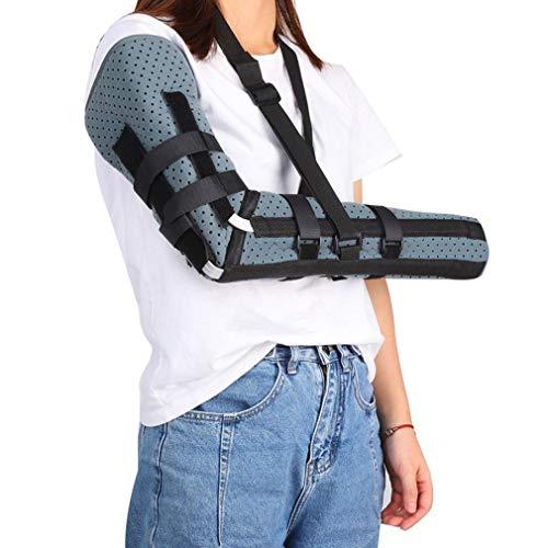 NYPB Elbow Ellenbogen Orthese, Unterarm Feste Orthese Armschiene Unterstützung, Gelenkschmerzen, Verletzung Erholung Halterung aus Aluminiumlegierung Offenes Design,Grau,S