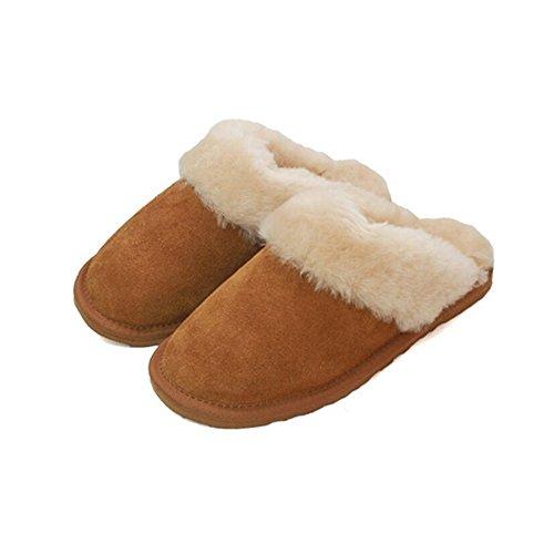 Eastern Counties Leather - Pantuflas/Zapatillas de Andar por casa diseo Zueco con Piel de Oveja para Chica Mujer (41 EU) (Ciruela)