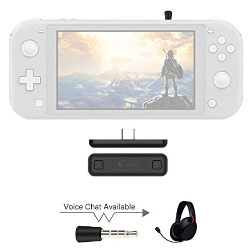 GULIkit Route Air Pro Wireless Bluetooth Audio Adapter for The Nintendo SwitchSwitch Lite White