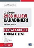 Concorso 2938 Allievi Carabinieri. Prova scritta: Teoria + Test con espansione online