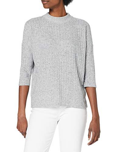 TOM TAILOR Denim Damen Fledermaus Bluse, 10367-Light Silver Grey Mélange, M