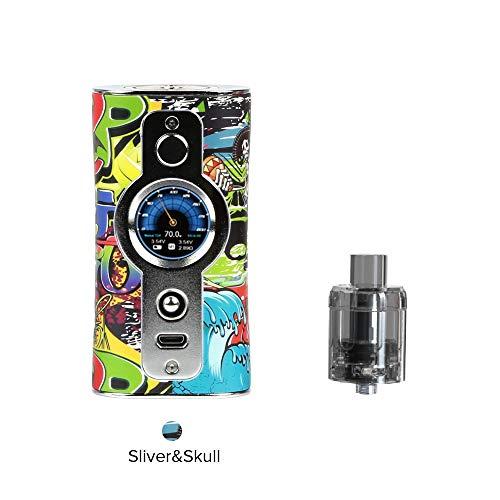 Vsticking VK530 200W TC Box Mod, Box Svapo Sigaretta Elettronica, Personalizza Taste Personalizza Sfondo-Niente Nicotina e Tabacco (Cranio)