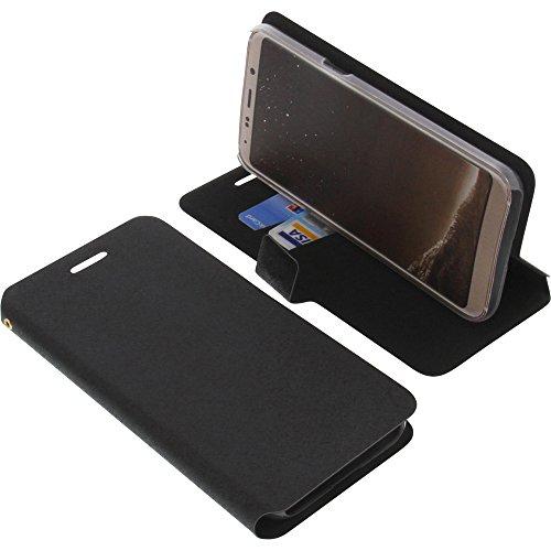 foto-kontor Tasche für Bluboo S8 Book Style schwarz Kreditkarte Schutz Hülle Buch