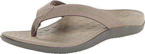 Vionic Unisex Wave Toe Post Sandal, 10 B(M) US Women / 9 D(M) US Men, (Khaki)