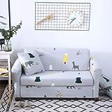 PCSACDF - Funda de sofá con Estampado de Colores Eng Envuelto Funda de sofá elástica Needs Order If L Style Sectional Ecksofa-Bezüge 1 Pieza 45 cm Fundas de Almohada 6