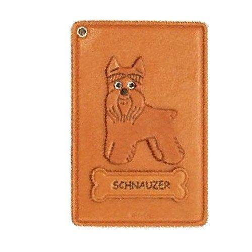 Schnauzer Hunde Leder Ausweis/ID/Kredit Karte Halter/VANCA Case **Handgefertigt in Japan