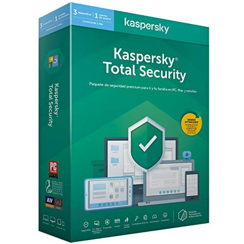 Kaspersky 2020 Total Security - Antivirus, 3 Licencias, 1 Año