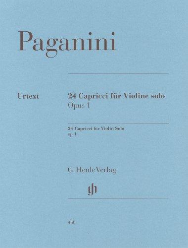 パガニーニ: 24のカプリス Op.1/原典版 (ボーイング、運指等注釈付きと注釈無しの2冊組み)/ヘンレ社/バイオリン教本