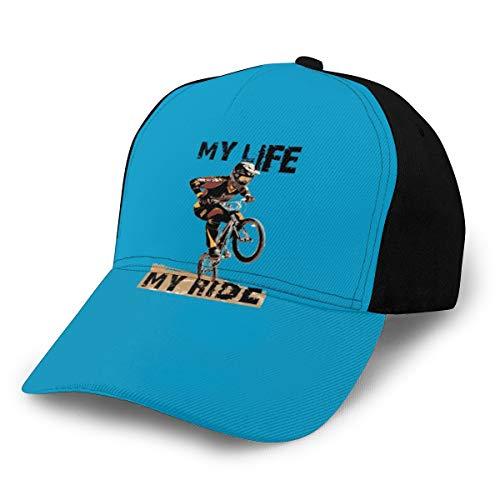 N/ My Life My Ride BMX Rider - Gorra de béisbol ajustable, color negro
