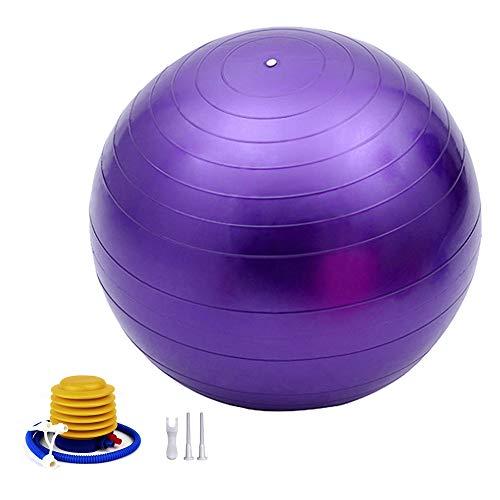 TownCat Gymnastikball Extra Dicker Yoga Ball 65cm, Fitnessball Yoga & Pilates, Sitzball Büro, Balance Ball inklusive Luftpumpe (Lila)