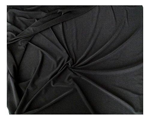 Fabrics-City % SCHWARZ BI-STRETCH LYCRA JERSEY STOFF LYCRASTOFF STOFFE, 2746