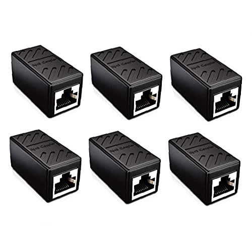Nätverksnav serie koppling kabelanslutning Ethernet-koppling nätverksanslutning Ethernet-kopplare, används för nätverk Ethernet-jumper, svart 6